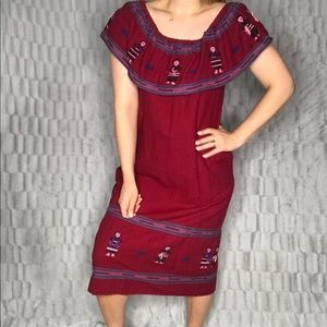 Vintage L. Fernando's Mexican Embroidered Dress